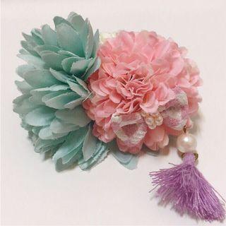 日本和服浴衣專用花朵氣質髮飾 京都購入