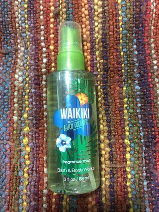 Bath & Body Works Waikiki Beach Coconut Fragrance Mist