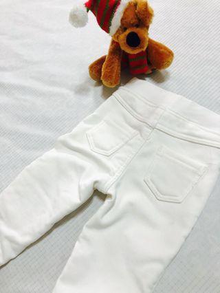 百搭刷絨白褲❤️小童🌟#半價居家拍賣會