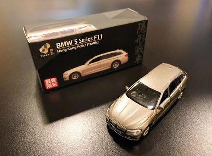 Tiny BMW 5 Series F11 HK Police Traffic Limited Edition 隱形戰車會展限定