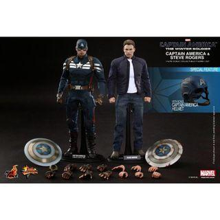 """Hot Toys """"Captain America: The Winter Soldier"""" Captain America and Winter Soldier set"""