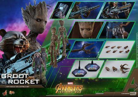 LF Hot Toys Infinity War Rocket and Groot