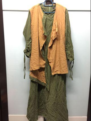Cotton Linen Dress with Jacket