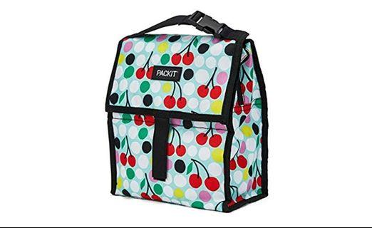 Packit freezable lunch box personal cooler, Cherry dots