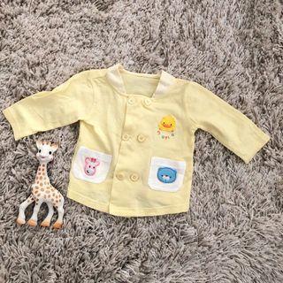 🚚 9-12M 黃色小鴨長袖上衣