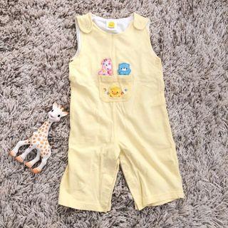 🚚 9-12M 黃色小鴨背心連身衣