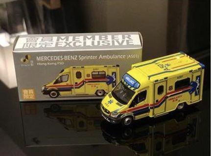 Tiny Mercedes Benz Sprinter Ambulance Limited Edition A501 會員限定