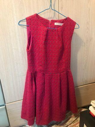 sharp粉紅花紋棉質背心裙