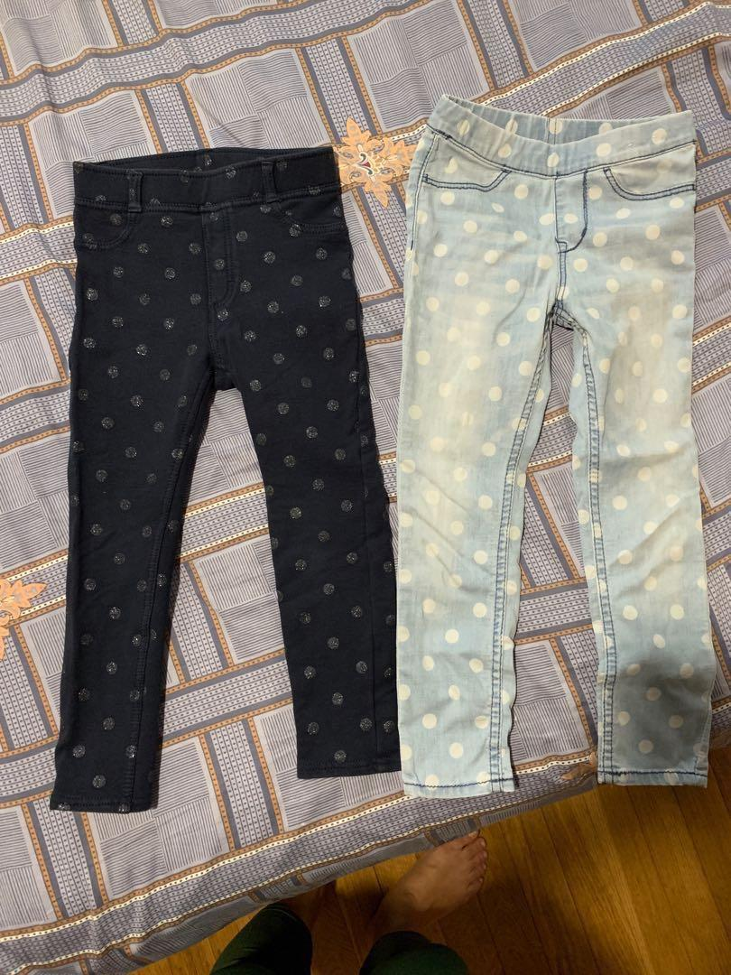 2 H&M Jean leggings