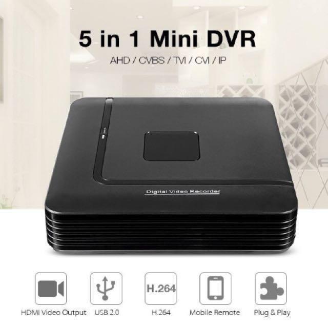 4/8/16CH DVR/NVR/XVR CCTV Hybrid Digital Video Recorder - 4/8/16 Channel  DVR/NVR/XVR - 4ch DVR/NVR/XVR - Support:AHD/CVI/TVI/CVBS/ANALOG/IP CCTV