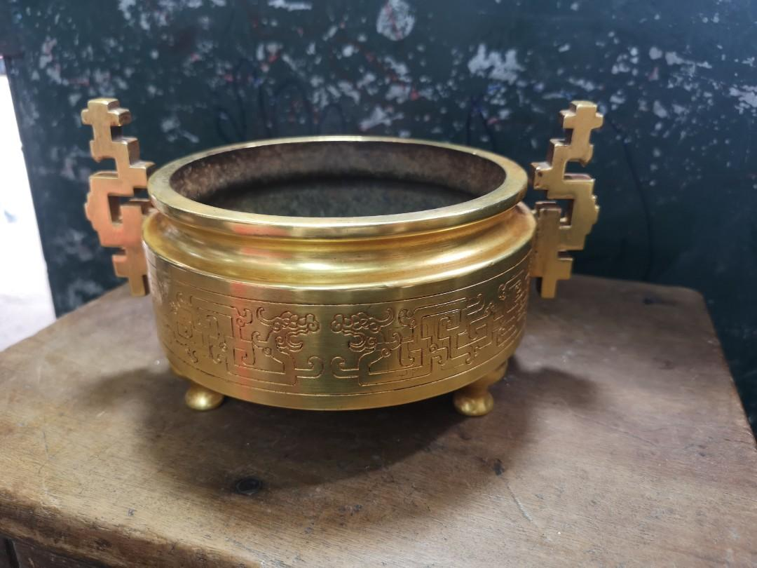 鎏金簪工香炉