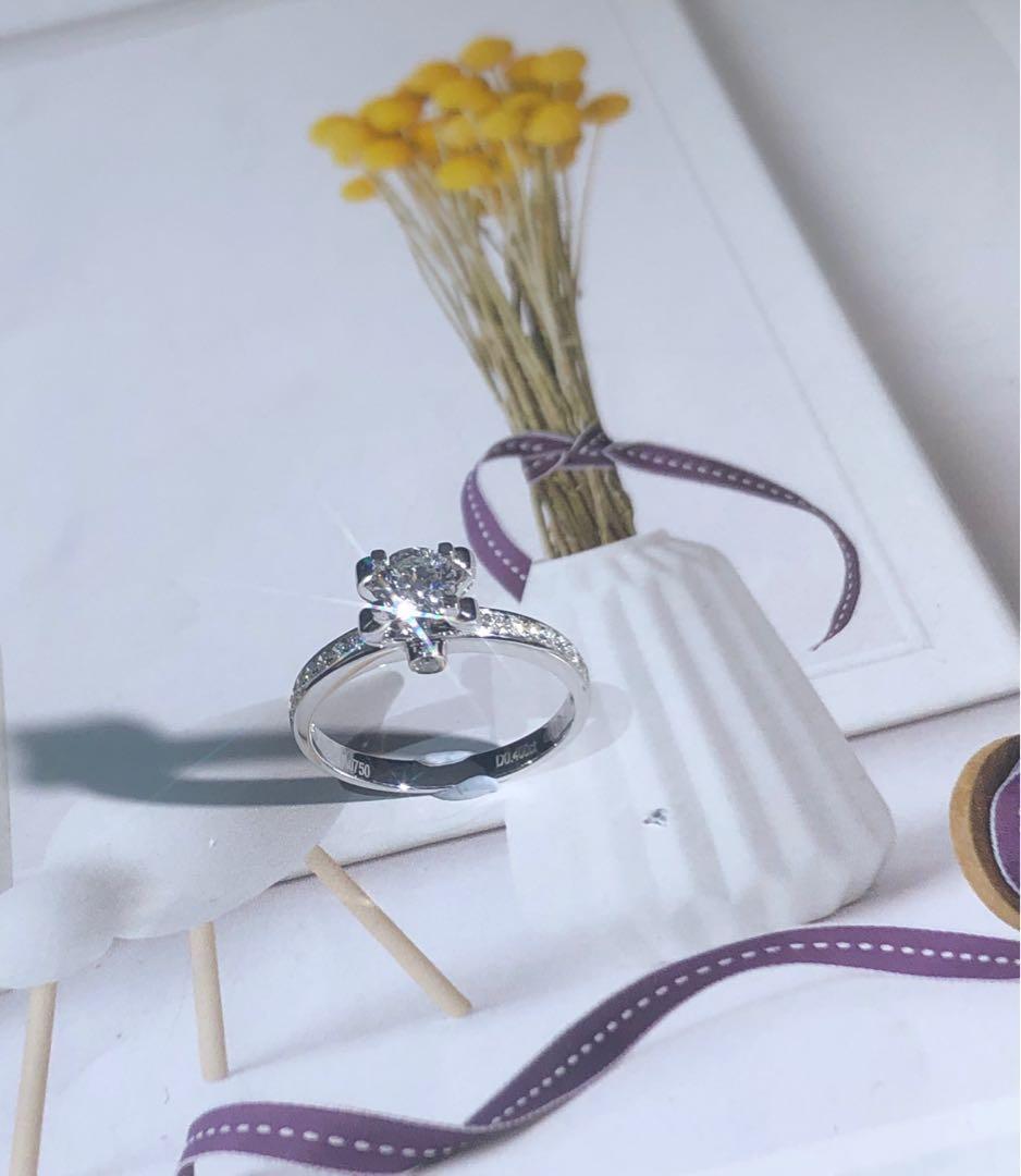 💖媽媽節就到啦💖 現貨既買既送🎁 ❤️ 18k 天然鑽石戒指💍