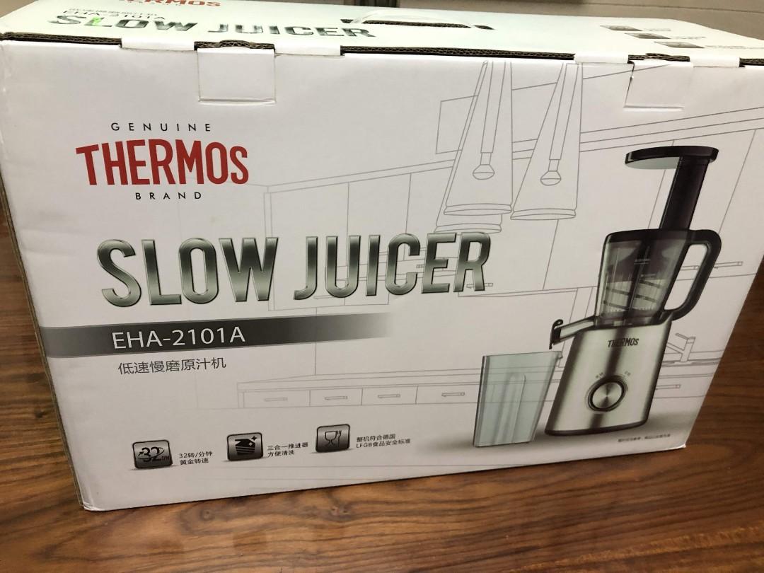 (包送貨) THERMOS 低速慢磨原汁機 榨汁機 果汁 蔬菜汁 水貨 平行進口 膳魔師