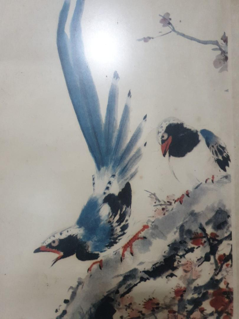 Chinese old print chinese bird flowers