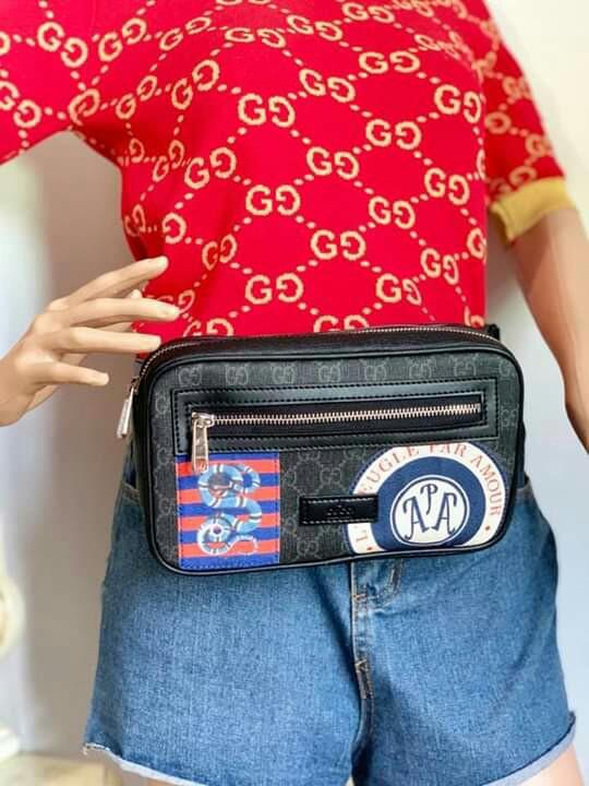 f35020dc6 AQ w/Box Gucci Belt Bag SALE Gucci Night Courrier GG Soft Supreme ...