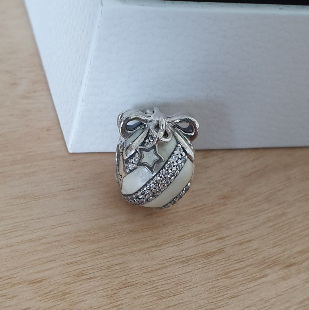 c9ba80ebf AUTHENTIC Pandora Radio City Rockettes Ornament Charm - LIMITED EDITION [Sterling  Silver 925 With Clear Cubic Zirconia And Pearlescent White Enamel ALE], ...