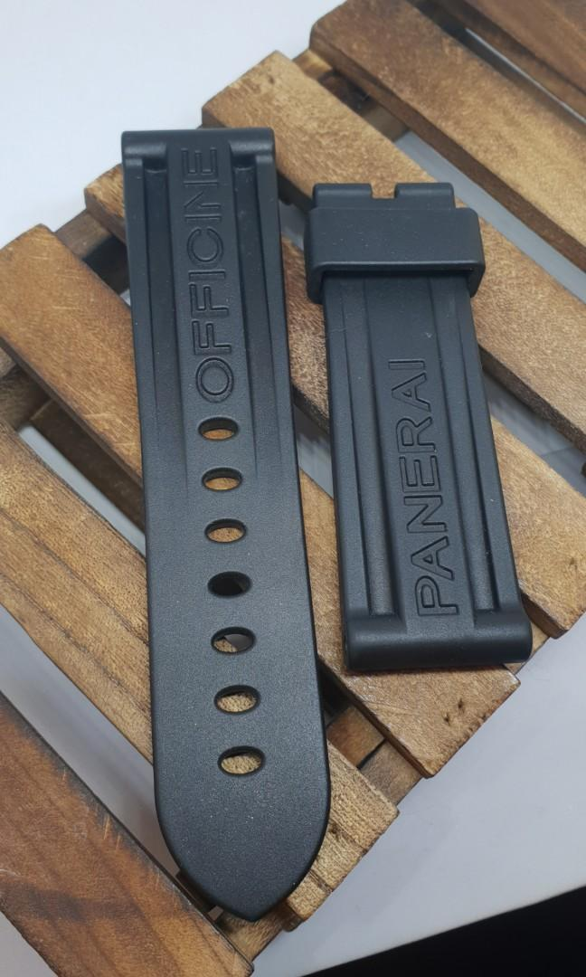 authentic panerai rubber strap