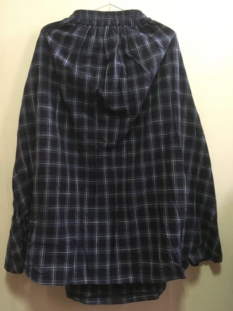 Bershka Checkered Dress 藍色格仔長裙