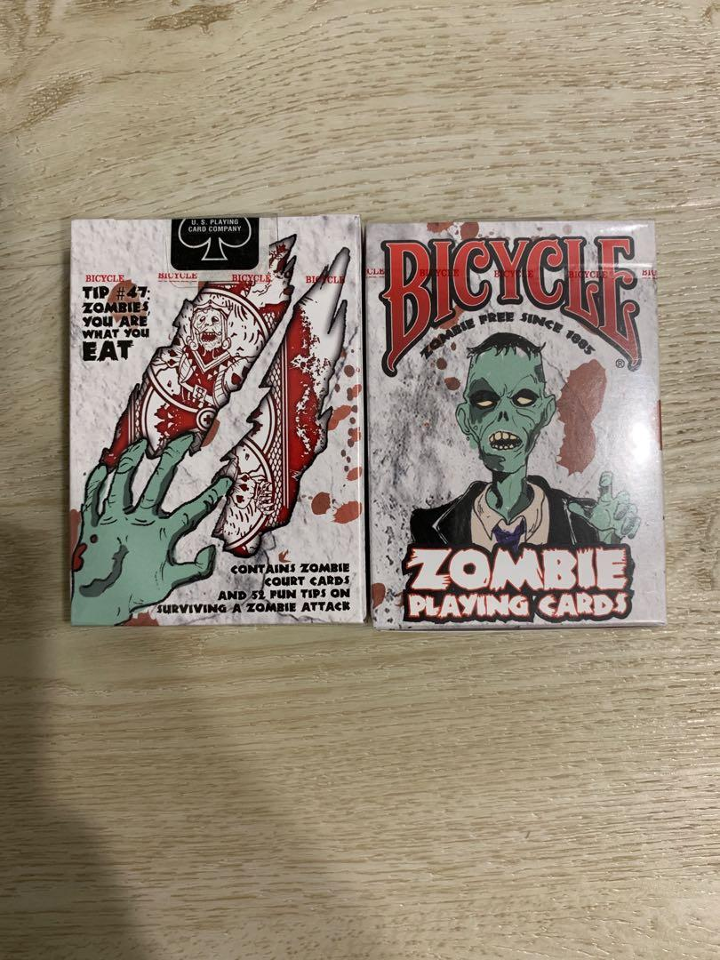 Bicycle zombie playing card
