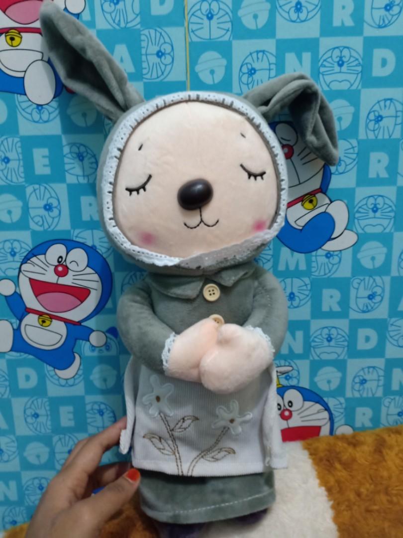 Boneka angela barbie boneka bayi boneka import mama papas new baru ex kado eks kado grey abu kelinci rabbit