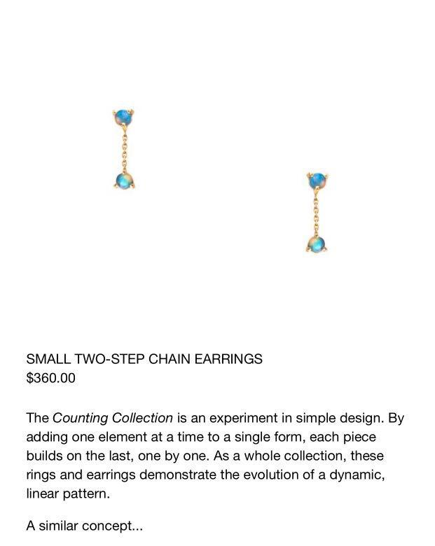 Brand new authentic WWAKE two step 14kt opal earrings