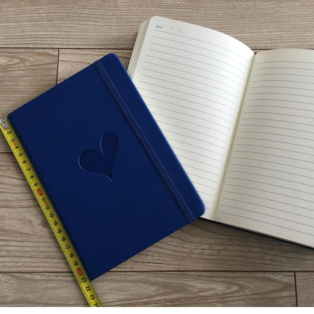 *Brand New* Blue Heart Leather Journal NOTEBOOK PLANNER