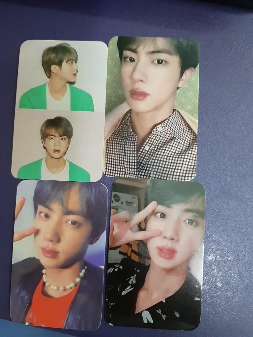 Bts jin persona photocard unofficial map of the soul
