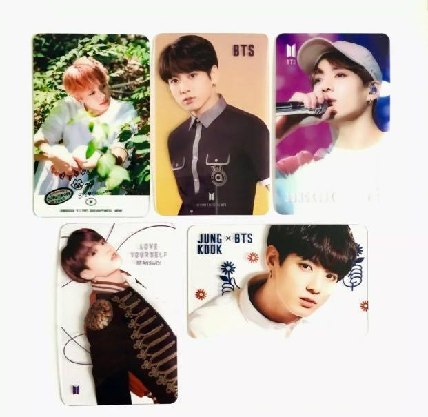 BTS JUNGKOOK 방탄소년단 정국 TRANSPARENT PHOTOCARDS (5 pc set) - Select from 5 options! ✈️FREE SHIPPING AUSTRALIA