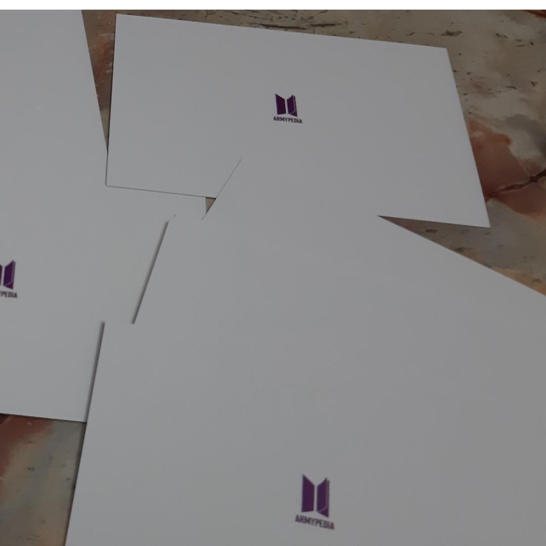 BTS rapmonster namjoon unofficial armypedia postcard set