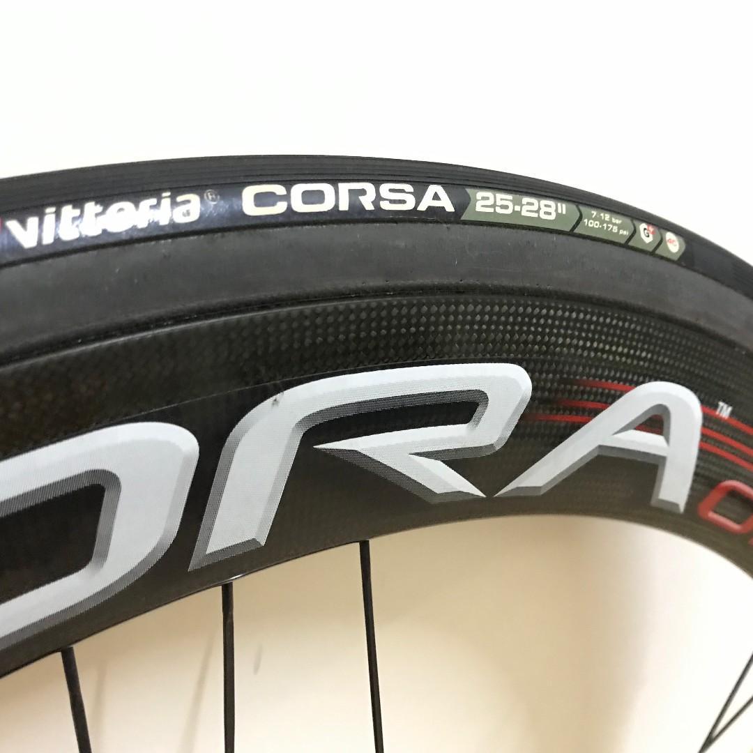 Campagnolo bora one 50mm 碳刀軨,車軨 ,Vittoria corsa tubular軚