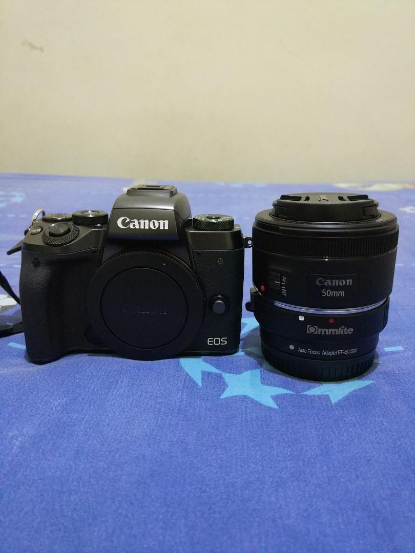 Canon EOS M5 body only, FREE CANON EF 50mm 1.8 STM + COMMLITE ADAPTER