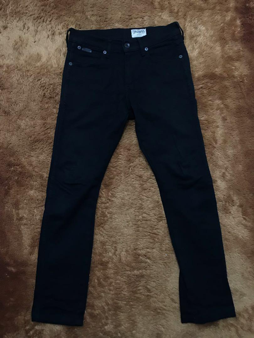 Celana Jeans Wrangler Black ORI 100% Size 30