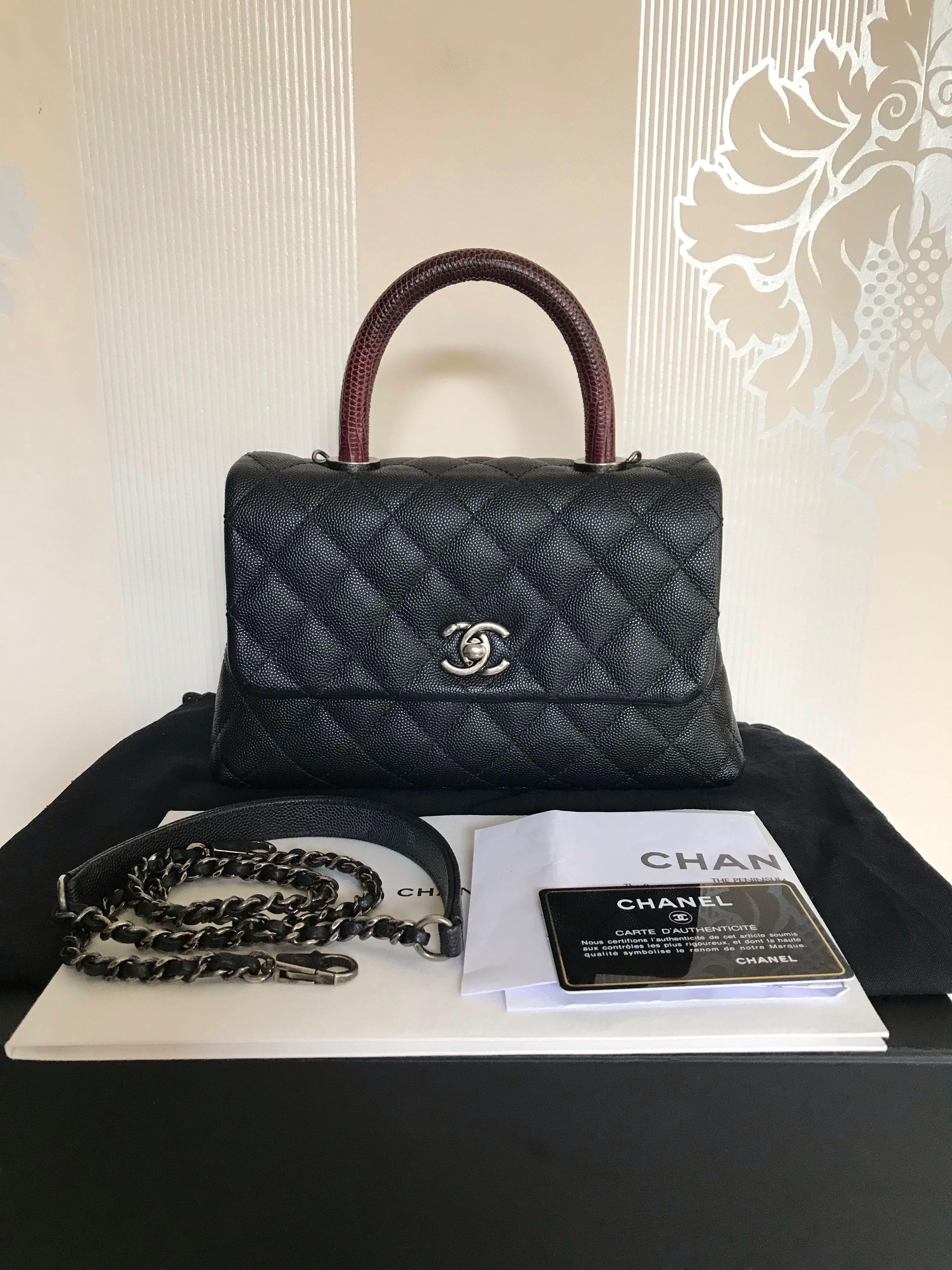 0c8091c4de31 Chanel coco handle sz mini 23 cm lizard handle rhw # 23, Luxury, Bags &  Wallets, Handbags on Carousell