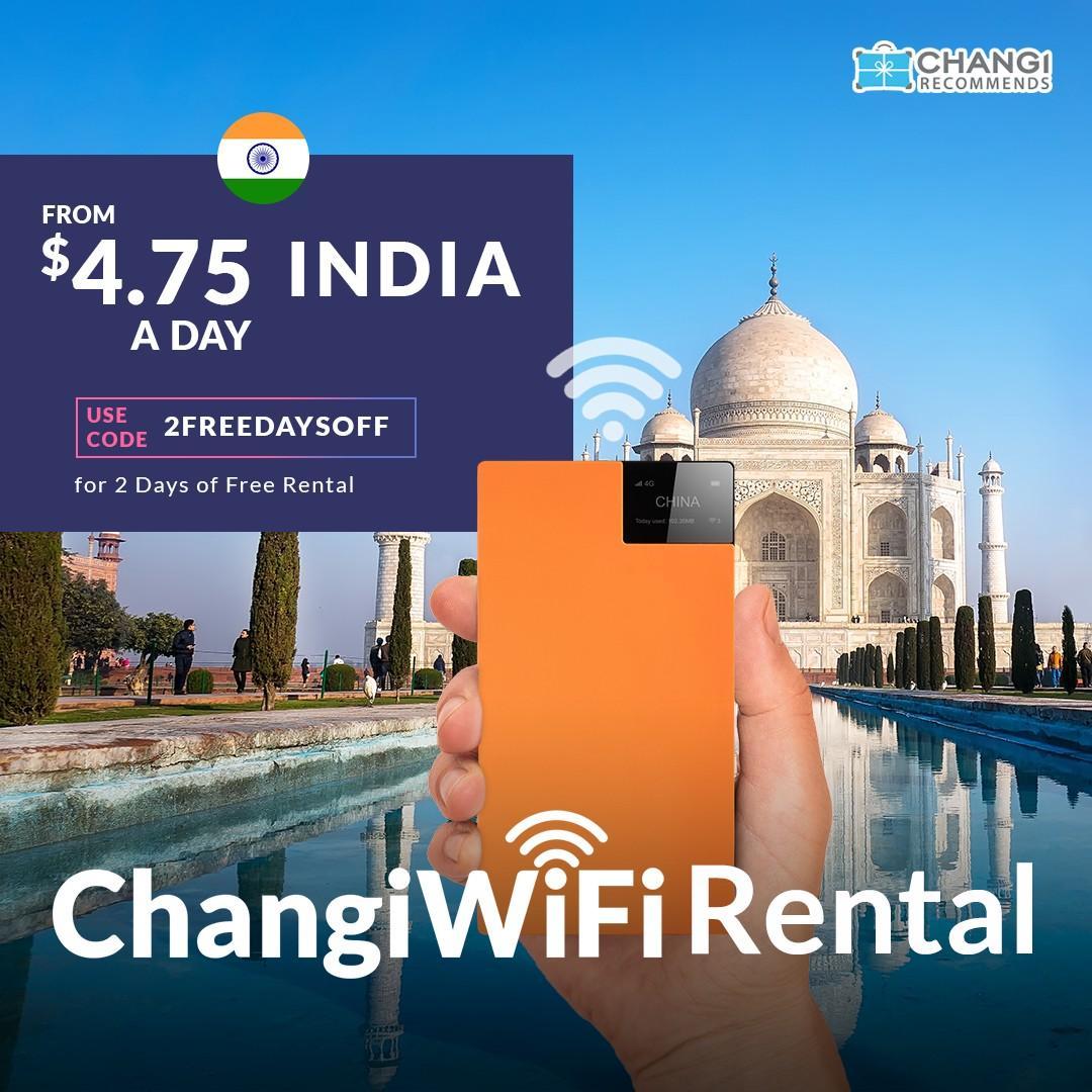 ChangiWiFi Rental - India *Unlimited Data