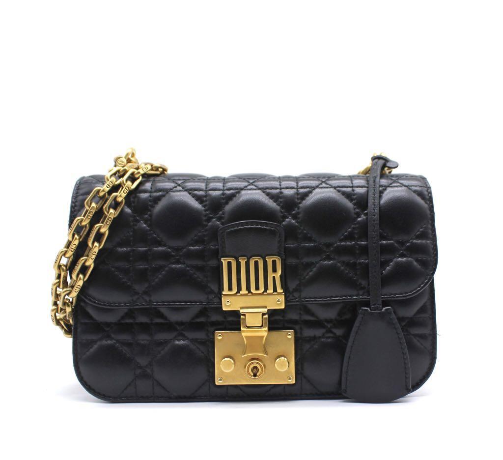 CHRISTIAN DIOR Dioraddict Small Flap Bag In Black Lambskin