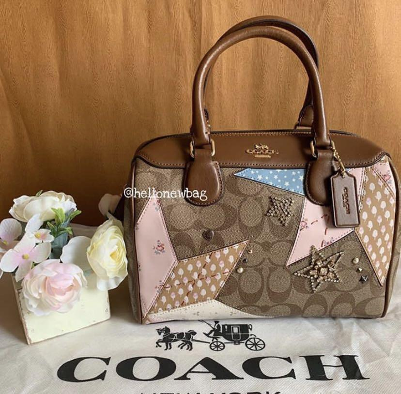 Coach Mini Bennet in signature star patchwork