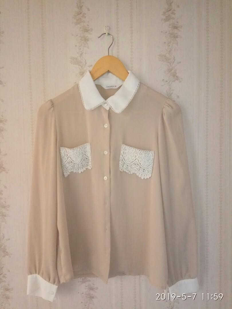 CUTE Vintage no-iron blouse (Korea)