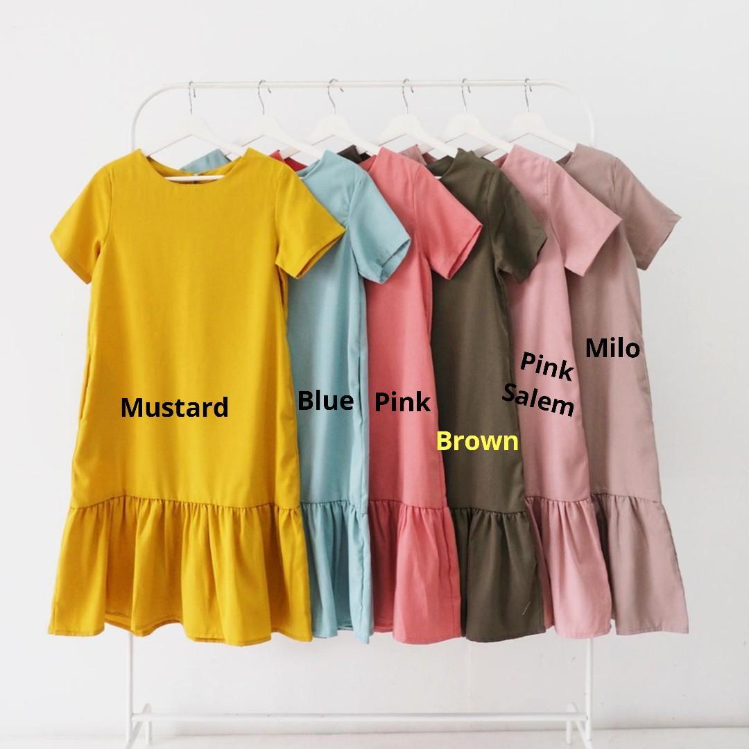 Dress / Pakaian Wanita / Sleeves Mermaid midi Dress / Dress Wanita.