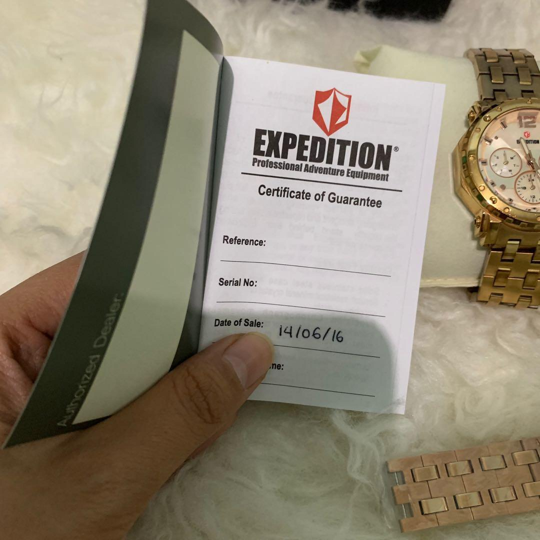 Expedition jam tangan gold