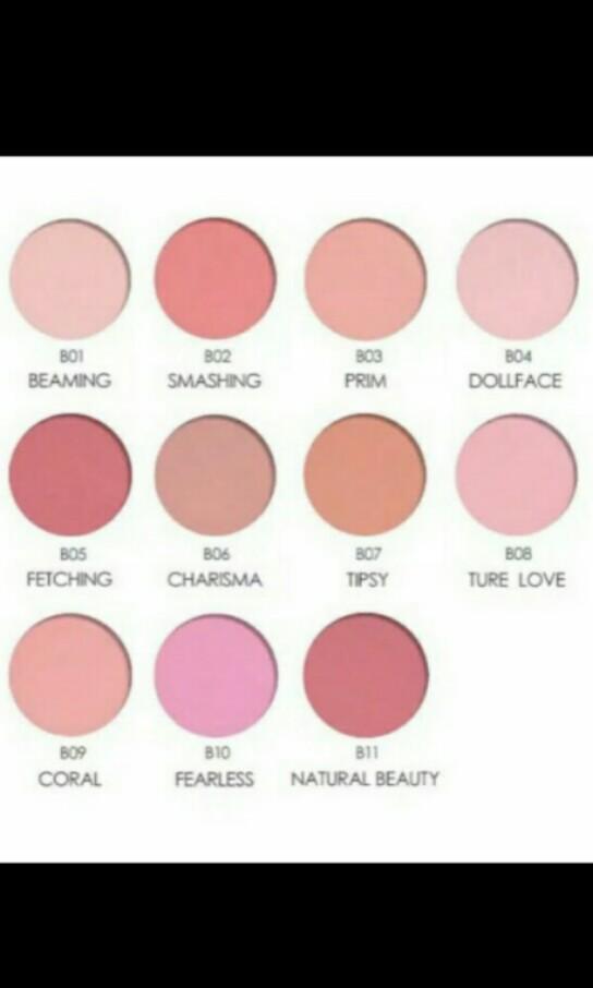 Focallure colors mix 11 face mineral pigment blusher blush powder
