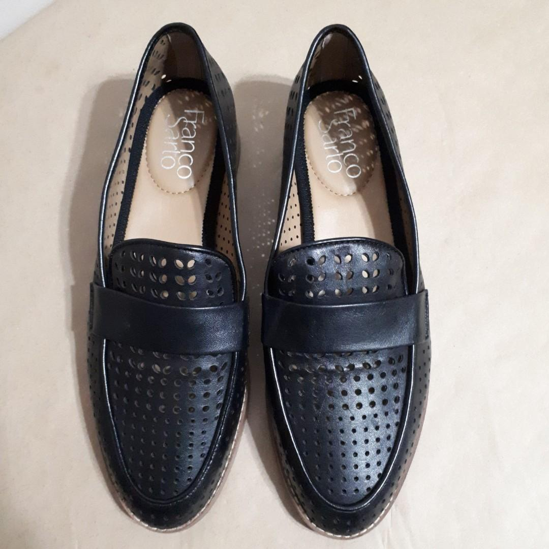 Franco Sarto Hudley Perforated Leather Loafers Size 6.5