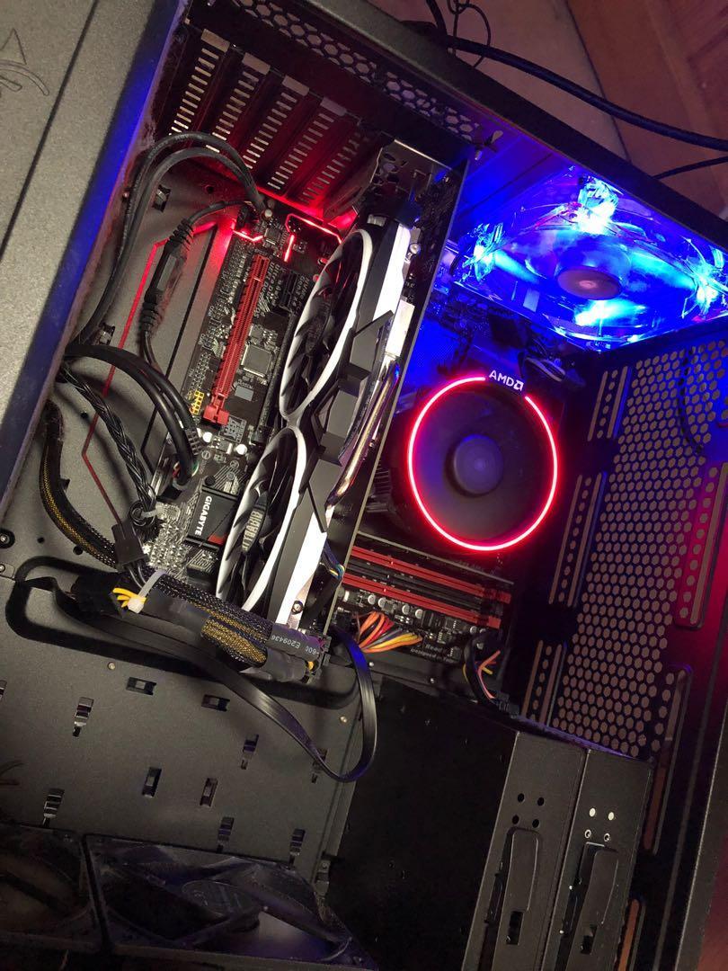 Gaming Desktop 高效電腦組合AMD Ryzen 7 1700 Gaming B350 MSI 1060 6gb Adata 16gb ram WD green 240gb SSD