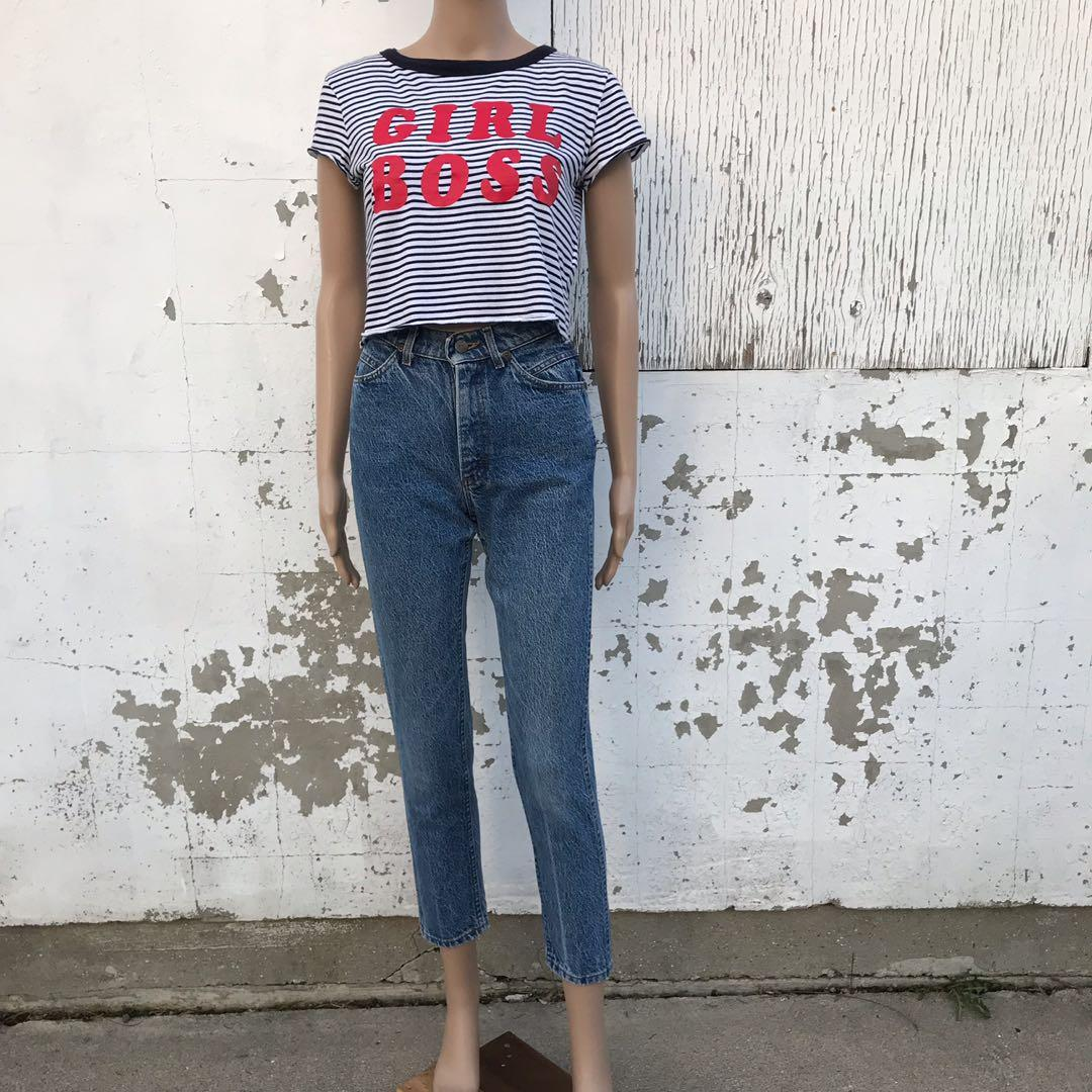Girl Boss T-Shirt Size Small Bershka Croppes Tee