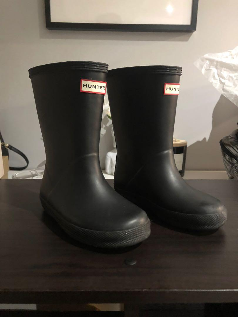Girls Original hunter boots size 10