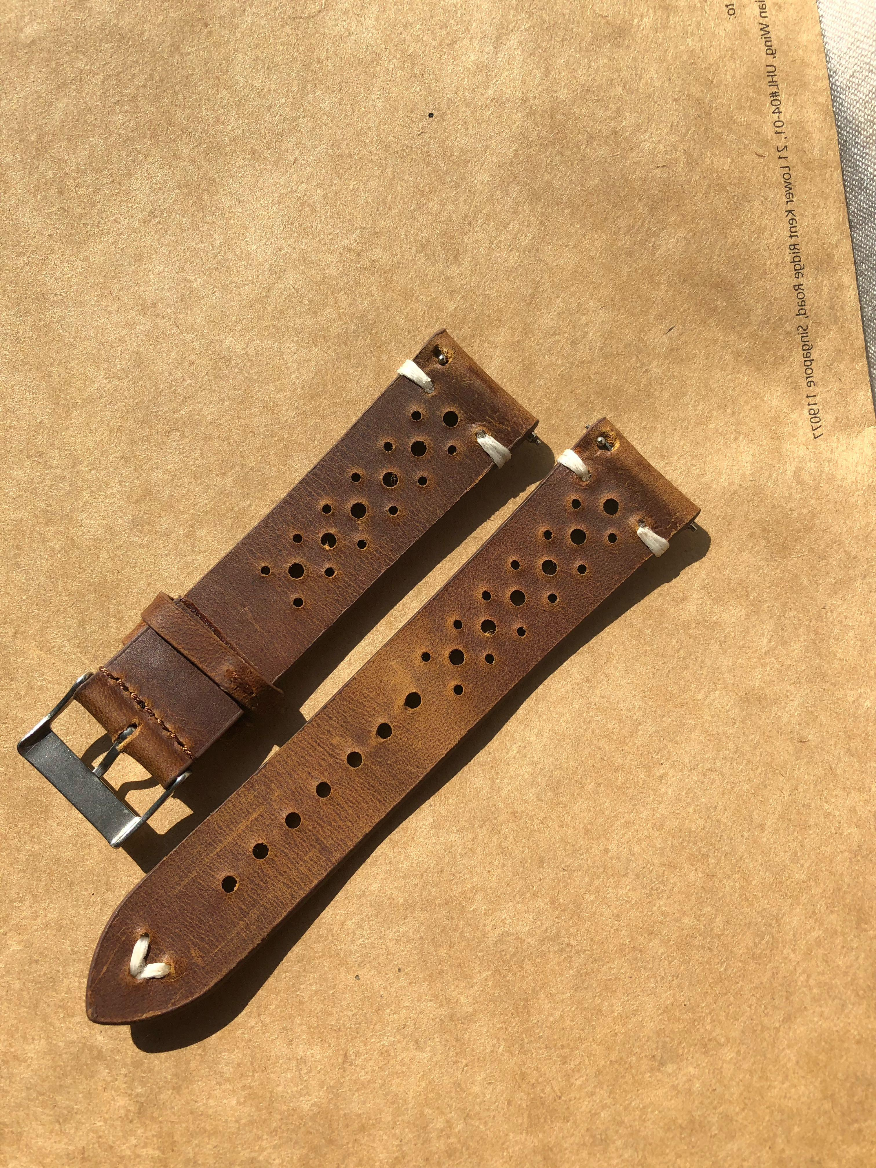 Gorgeous 22mm Rally Leather Strap