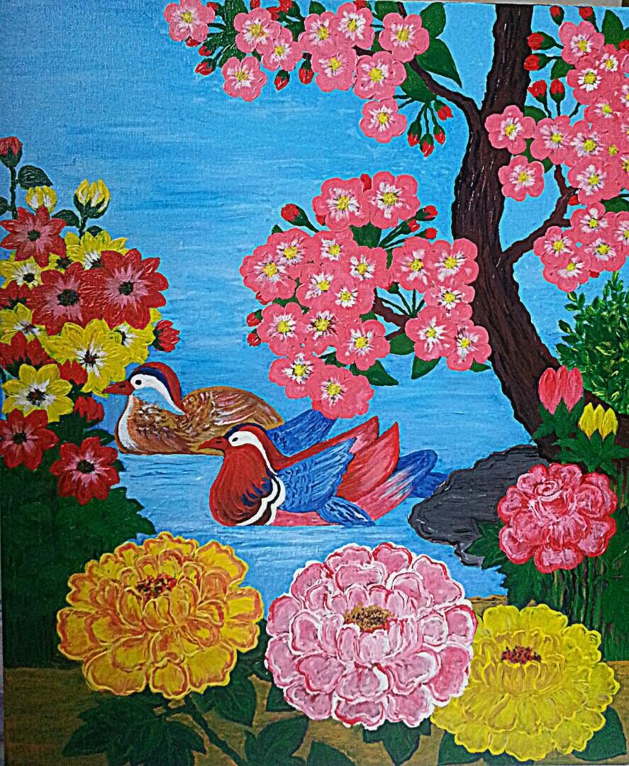 Hand painting size 50cmx60cm,45cmx90cm
