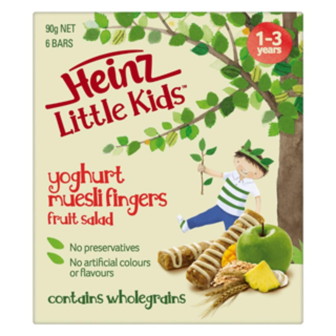 Heinz Little Kids Fruit Salad Muesli Fingers - 90g