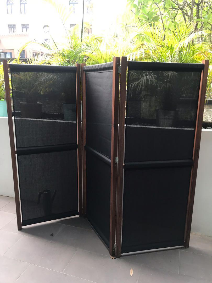 Ikea Screen Divider Partition, Foldable Wooden Screen