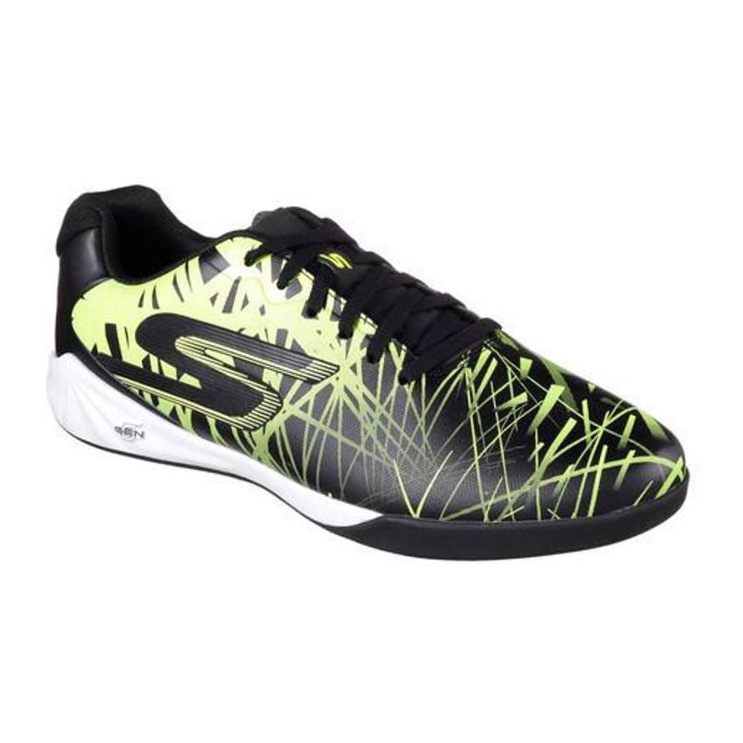 963342029 IN STOCK SKECHERS Men's Leverage Powerplay Indoor Soccer Shoe | Blk ...