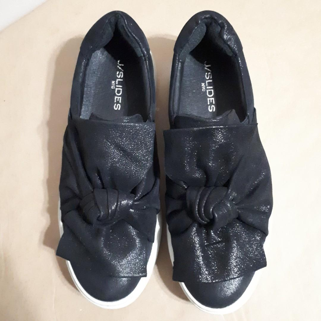 J Slide NYC Annabell Bow Slip-On Sneakers Size 8.5